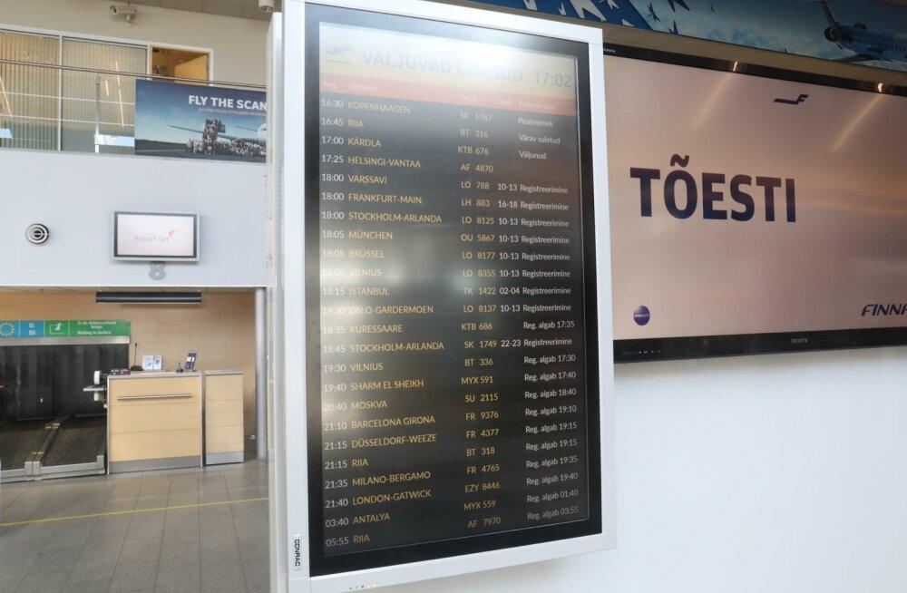 В аэропортах Прибалтики меняют написание украинских городов