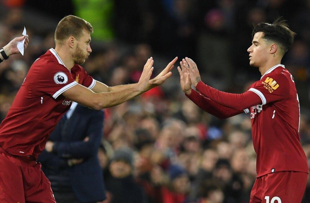 Philippe Coutinho viimaseks liigutuseks Liverpooli särgis jäi Ragnar Klavani väljakule vahetamine.