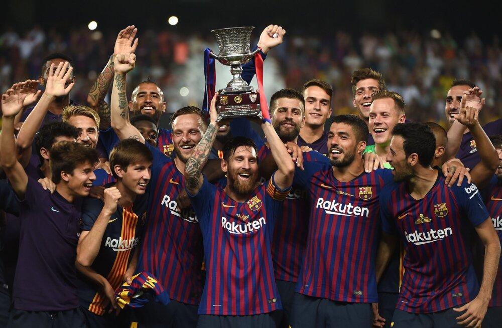 VIDEO | Viimase minuti penaltitõrje aitas Barcelona ajaloolises superkarikafinaalis võidule