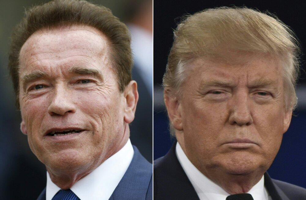 VALUS NÄTAKAS: Arnold Schwarzenegger näitas tüli norinud Donald Trumpile koha kätte
