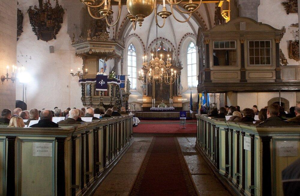 Jumalateenistus Toomkirikus