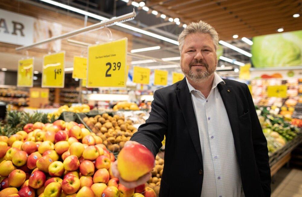 Rimi Balticu juht Edgar Sesemann peab oma keti trumbiks puu- ja juurviljalettide tootevalikut.