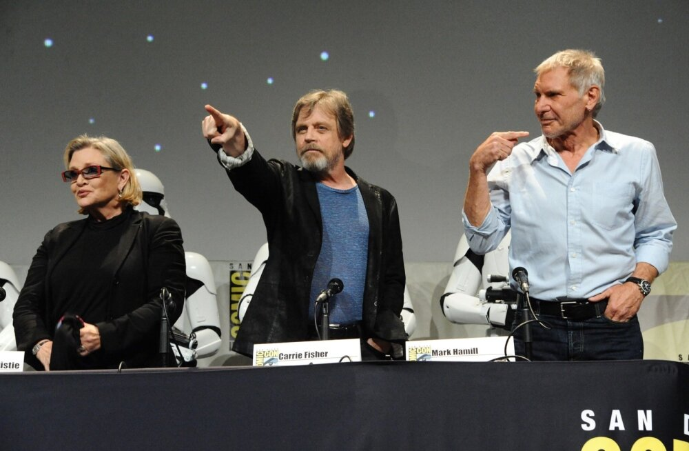 """Tähesõdade"" veteranid Carrie Fisher, Mark Hamill ja Harrison Ford"