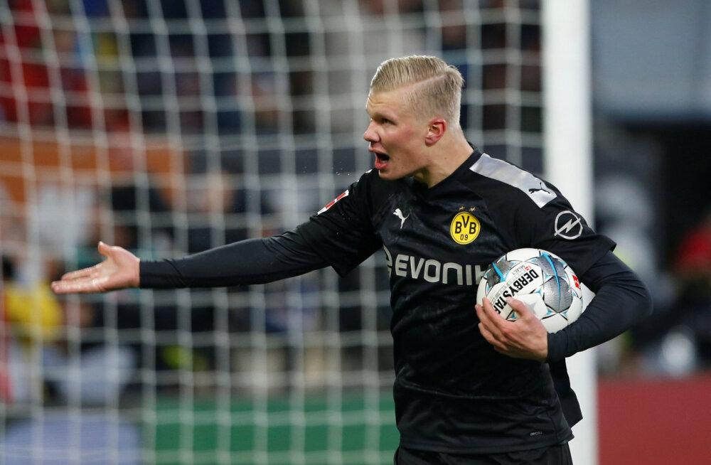 Võimas! Norra imelaps kõmmutas debüüdil kolm väravat ja vedas Dortmundi võidule