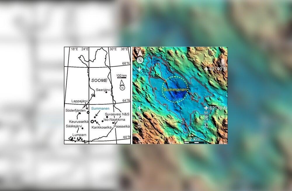 Soomest avastati koostöös Tartu Ülikooli teadlastega meteoriidikraater