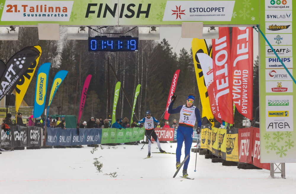 Tallinna suusamaratoni võitsid Heleri Kivil ja Henri Roos