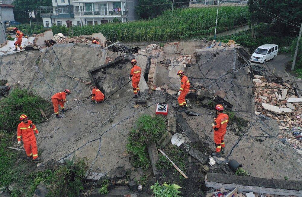 Hiina lõunaosa raputas maavärin: surma sai 12 inimest