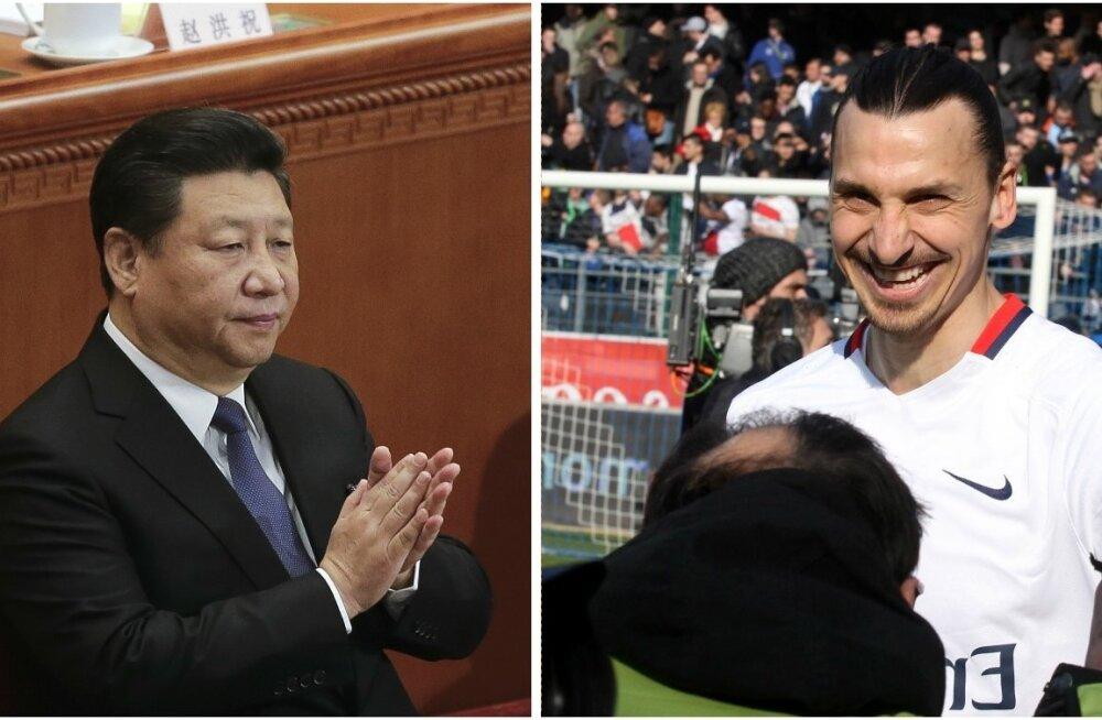 Xi Jinping, Zlatan Ibrahimovic