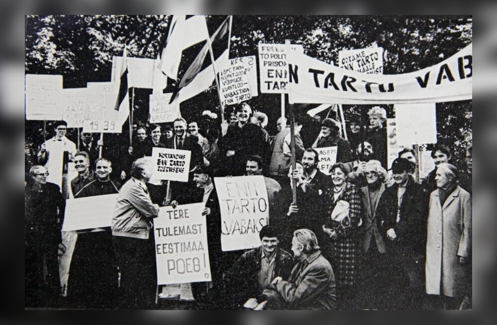 17. oktoober 1988: Meeleavaldus tervitas Enn Tarto vabanemist vanglast.