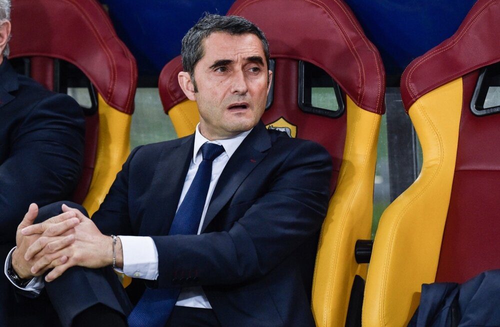 FC Barcelona peatreener Ernesto Valverde.