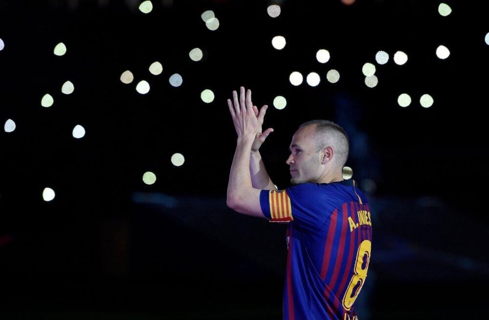 VIDEO | Viimast korda Barcelona särgis mänginud Andres Iniesta teenis Camp Nou publikult hiiglaslikud ovatsioonid, mees jäi pärast südaööd staadionimurule