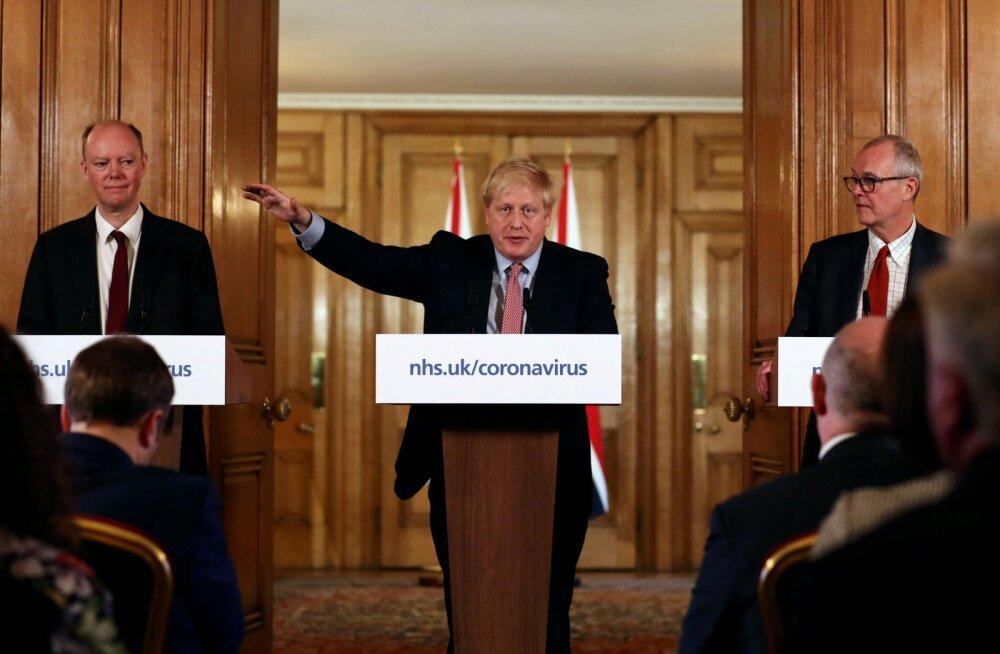Boris Johnson: koroonaviirus on põlvkonna suurim rahvatervisekriis, sureb veel palju inimesi