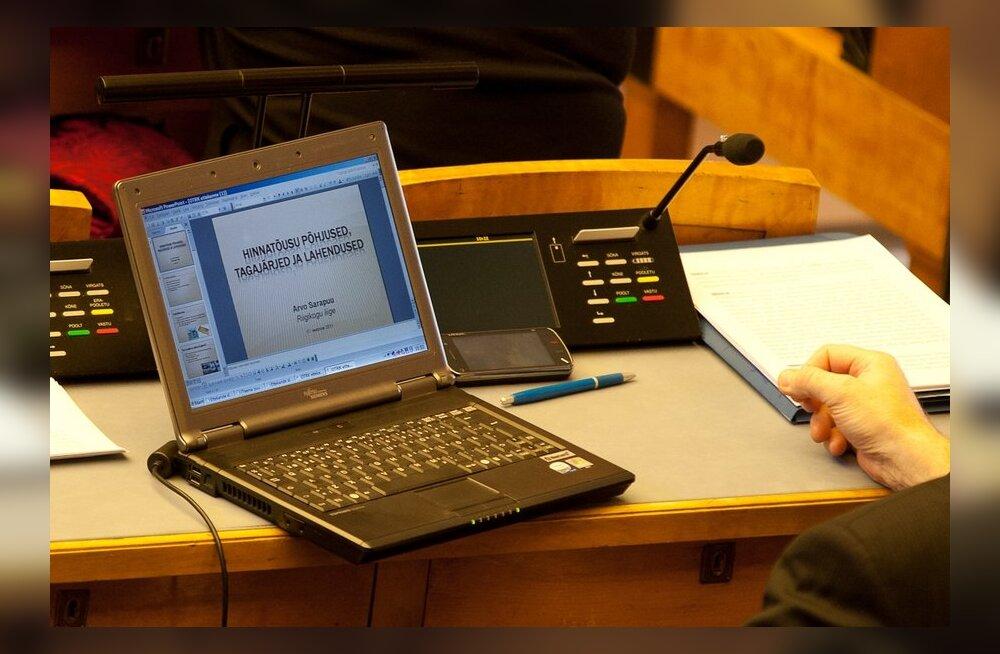 Kui otstarbekas on keelata parlamendiliikmetel istungi ajal sülearvutite kasutamine?