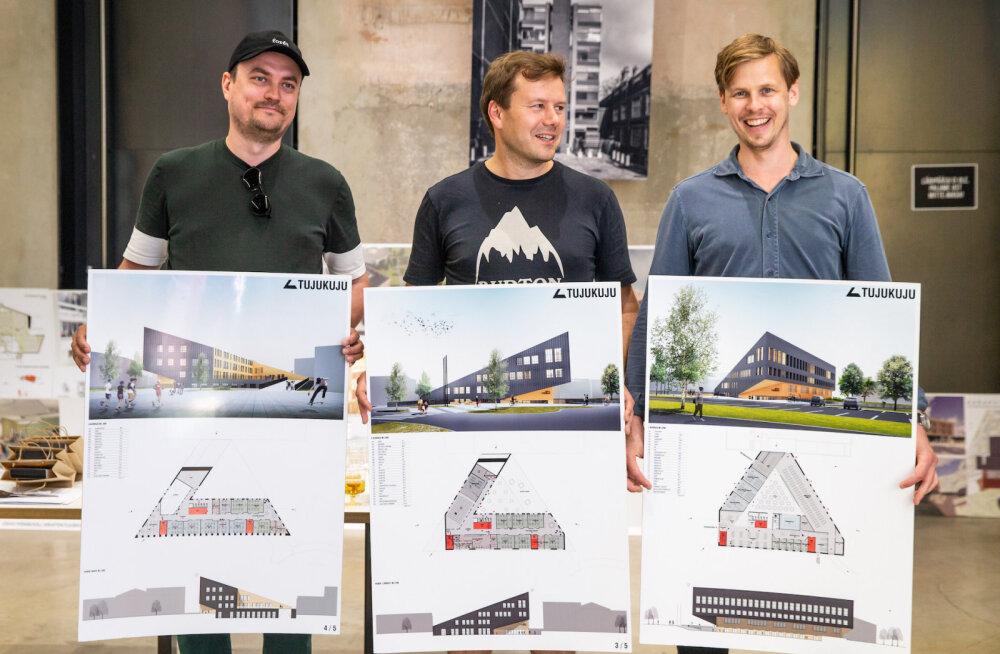 ФОТО: Выяснился победитель архитектурного конкурса Йыхвиской основной школы