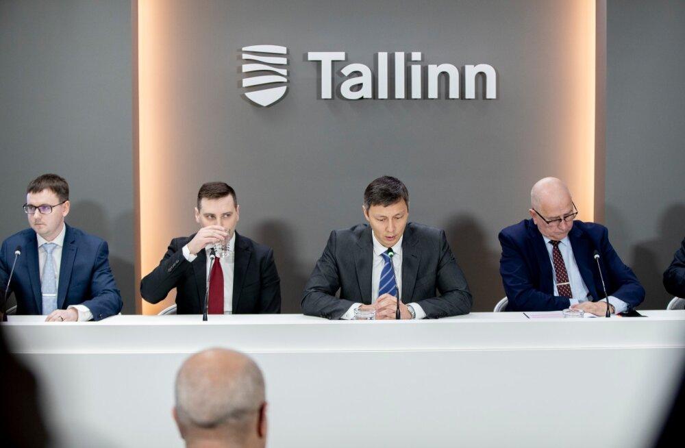 Tallinna linnavalitsuse pressikonverents. Pilt on illustreeriv.