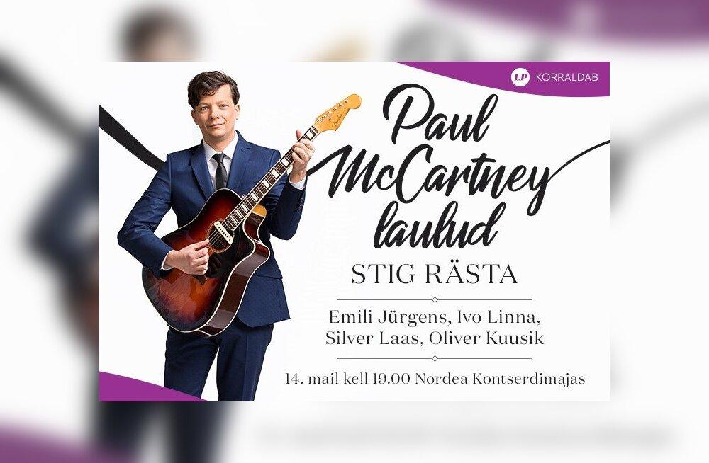 LP tellijaeelis: 14. mail esitab Stig Rästa Nordea kontserdisaalis Paul McCartney jumalikke hitte