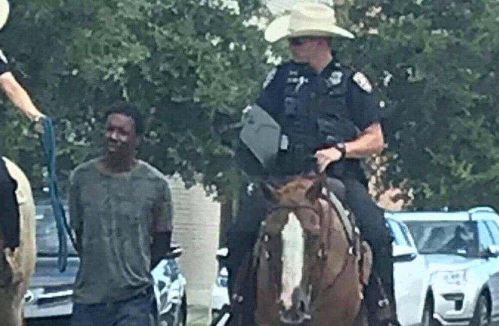 Rassismiskandaal USA-s: Texase politsei vedas kinni võetud mustanahalist meest nööri otsas jaoskonda