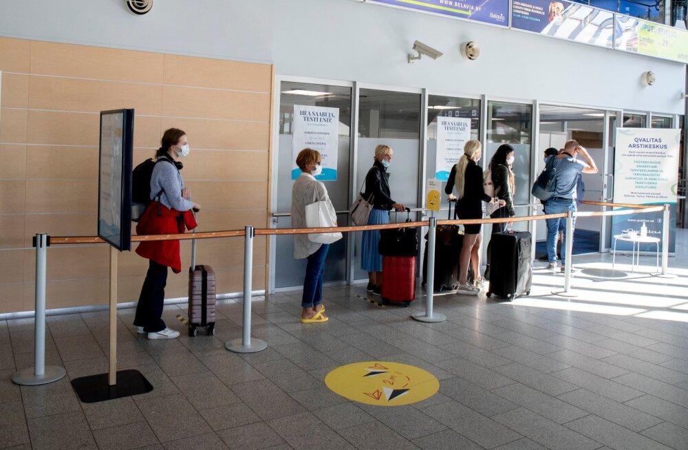 Koroonaproovide võtmine lennujaamas ja sadamas