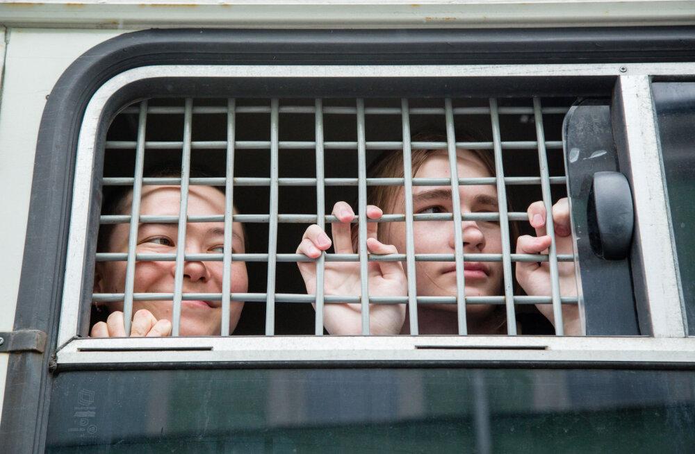 Задержанный на протестах в Москве: один полицейский сказал, что задумался над тем, чтобы уйти с работы
