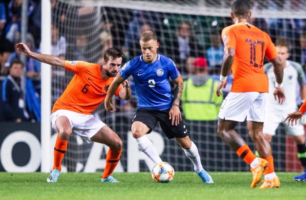 Erik Sorga kohtumises Hollandi vastu.