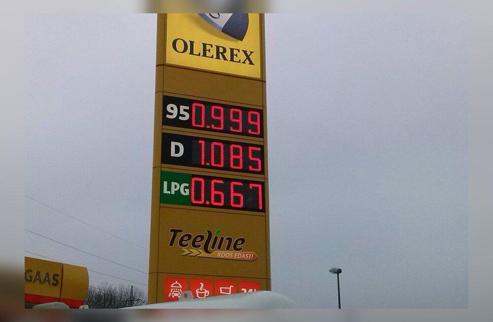 Olerex püüab kütuseturul pildile saada: liitri hind alla euro