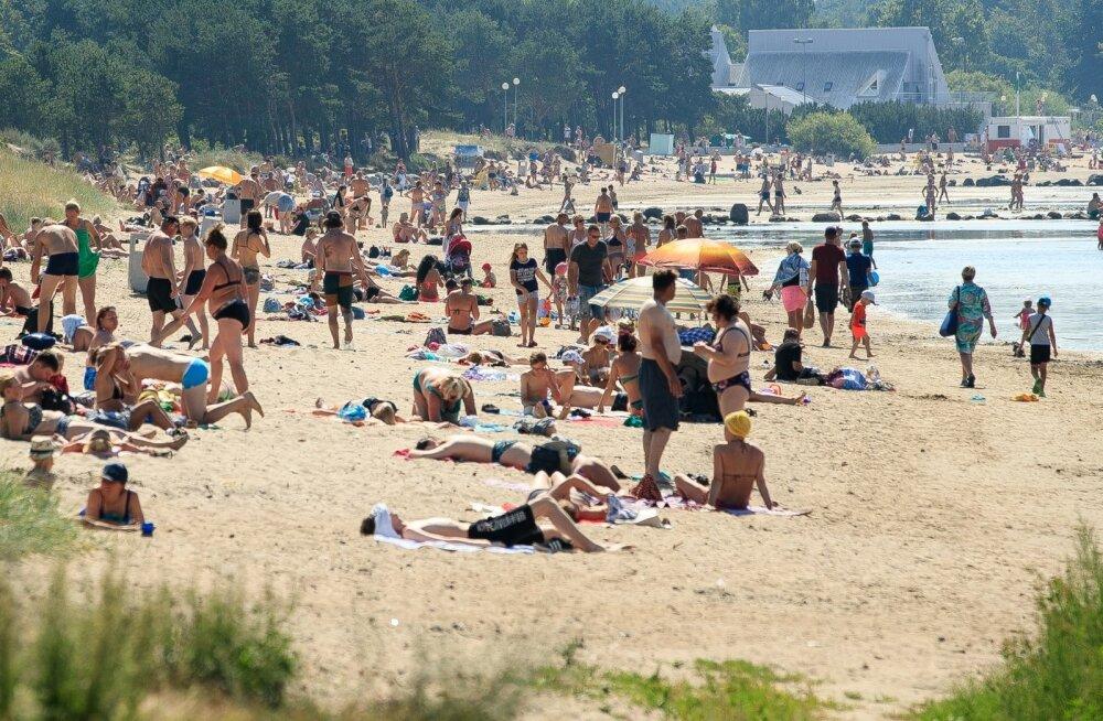 Tallinna rannad palaval päeval 28.07.2019