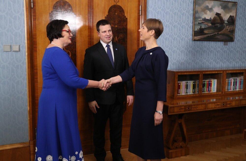 ФОТО: Президент Кальюлайд утвердила Катри Райк на должность министра внутренних дел