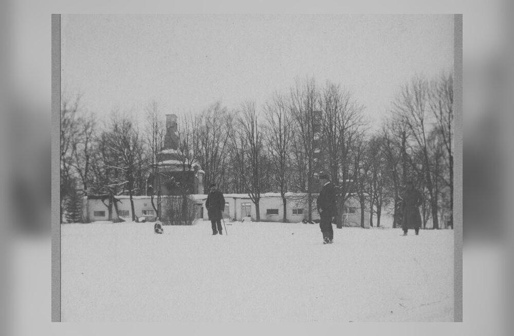 Vana-Märjamaa mõis pärast põletamist 1906. aasta talvel