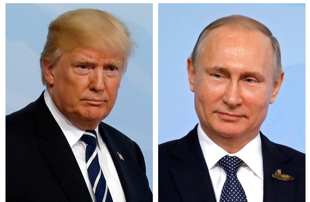 Valge Maja: samal tippkohtumisel osalevad Trump ja Putin ei kohtu päevakavade sobimatuse tõttu eraldi