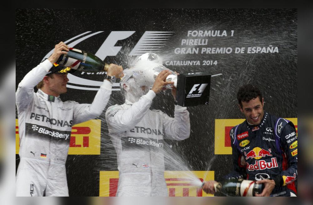 Rosberg, Hamilton ja Ricciardo