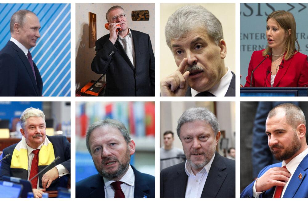 Восемь кандидатов в президенты России. Кто эти люди — коротко