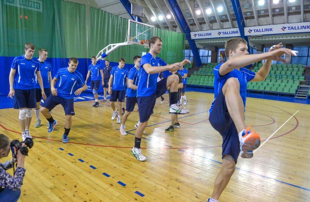 Võrkpallikoondise treening