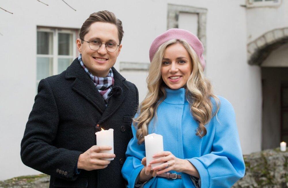 """""""Jõulutunnelit"""" juhivad Kristjan Pihl ja Anna Pihl."""