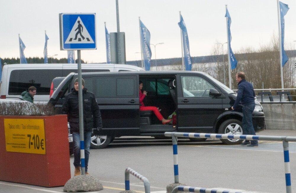 Hando Sutter märtsi lõpus Tallinna lennujaamas.