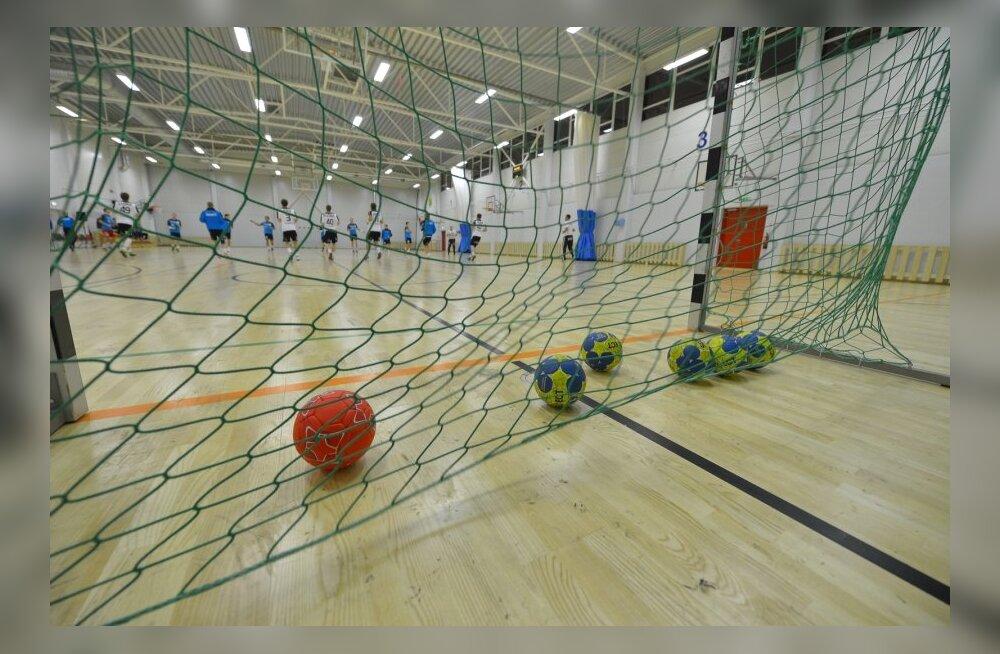 Käsipalli treening