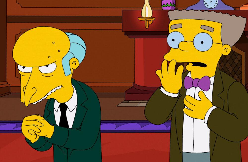 Simpsonite produtsent paljastab: Härra Burnsi assistent Smithers tuleb viimaks kapist välja