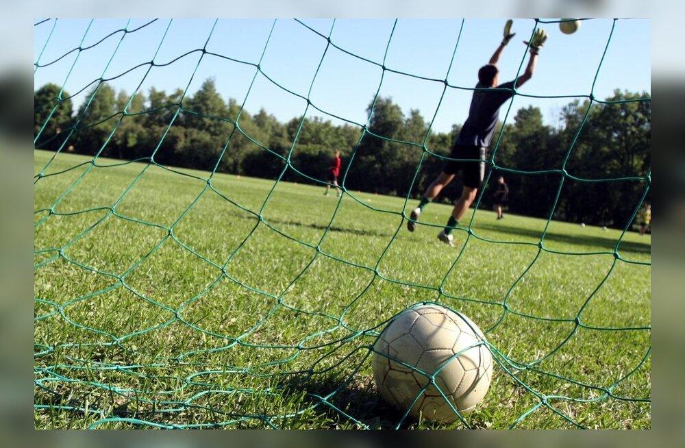 Jalgpall, pall väravas