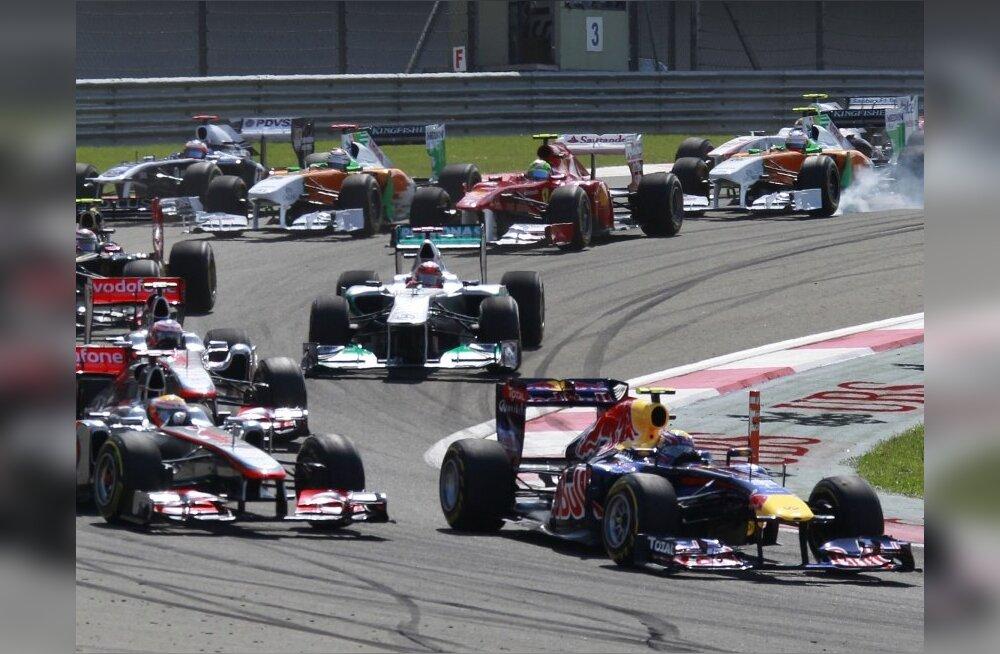 Põnevussõit: vormel-1 sarja Ungari GP võitis Jenson Button