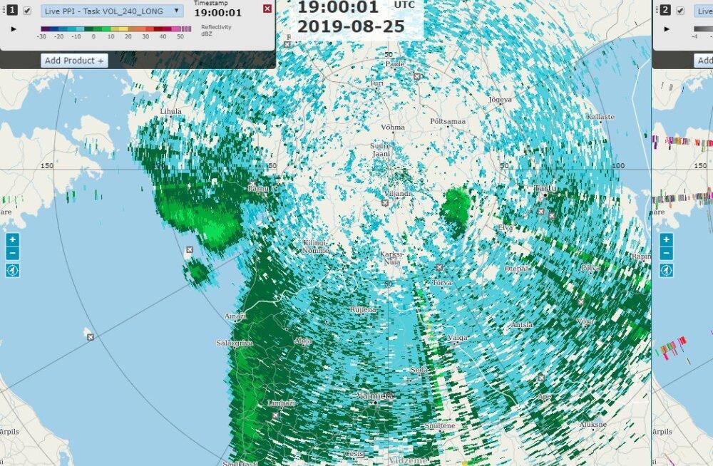 FOTOD | Ilmateenistuse radaritelt näeb nii putukate kui ka rändlindude liikumist