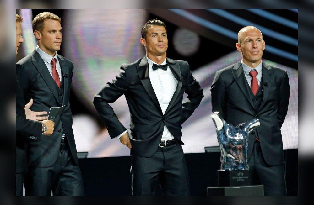 Manuel Neuer, Cristiano Ronaldo, Arjen Robben