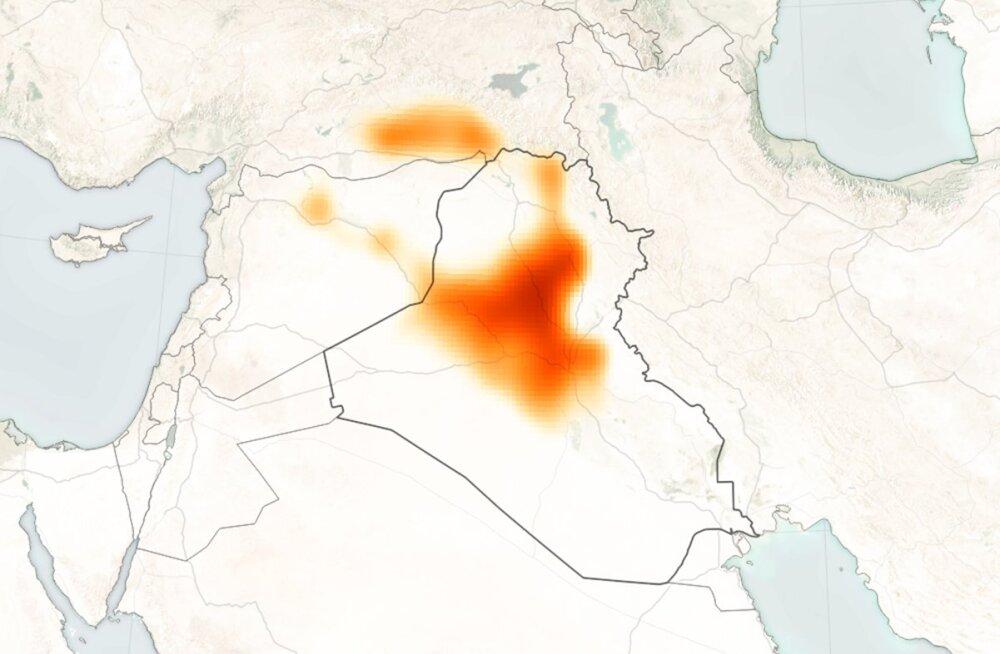 ISISe äärmuslased on Mosuli kandis lendu lasknud hiiglasliku mürgipilve