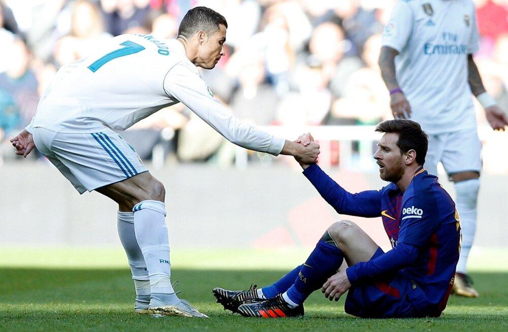 Cristiano Ronaldo ja Lionel Messi.