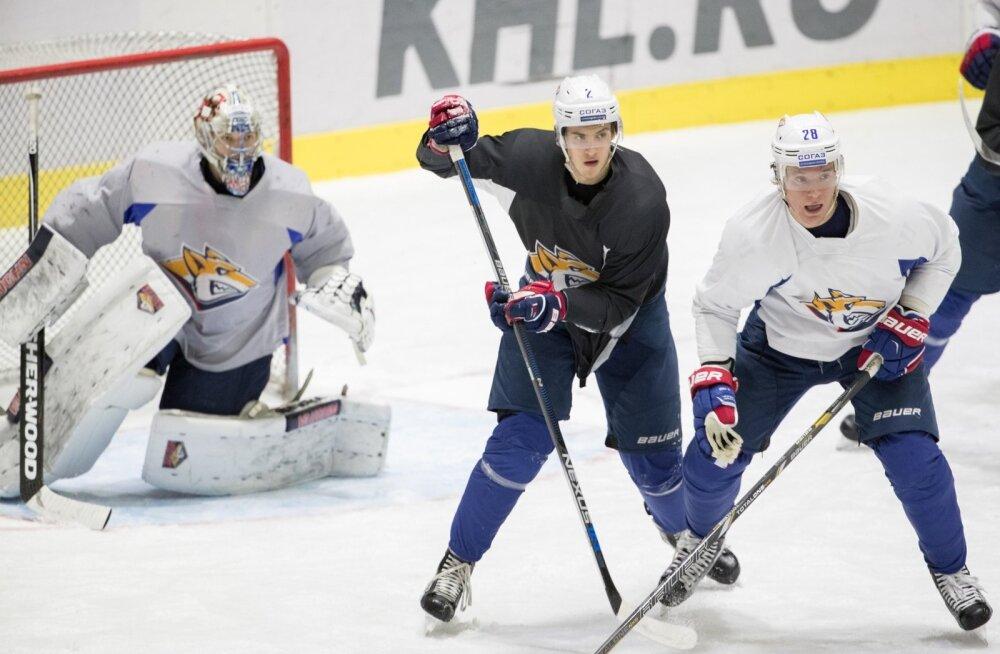 KHL-i meeskonna Magnitogorski Metallurg treening