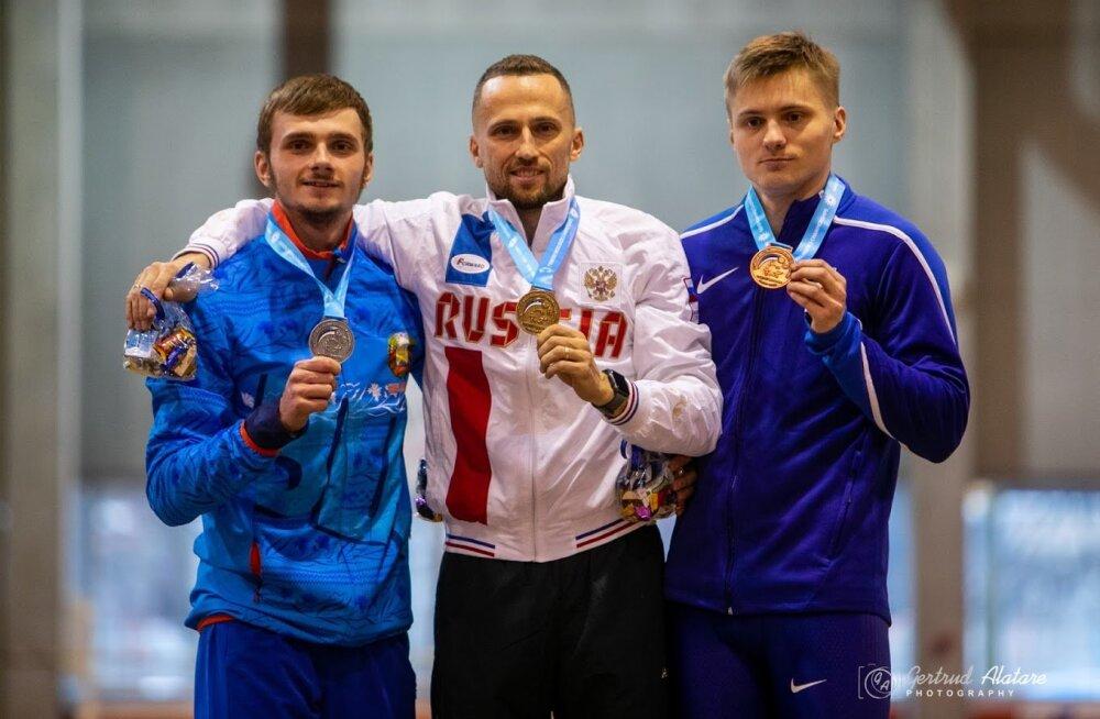 Tanel Visnap võitis kurtide sisekergejõustiku MMi avapäeval pronksi