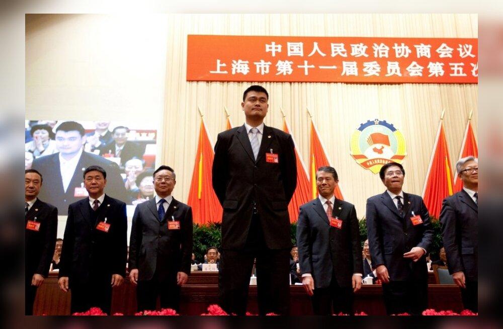Korvpallihiiglane Yao Ming astus poliitikasse
