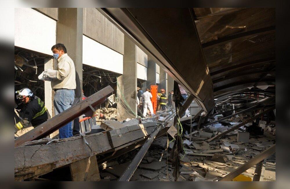 Mehhiko naftafirma kõrghoone plahvatuses hukkus vähemalt 32 inimest