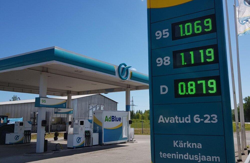 Uus kütuse hinnarekord! Tanklates langes mootorikütuse hind viimaste aastate madalamaile tasemele