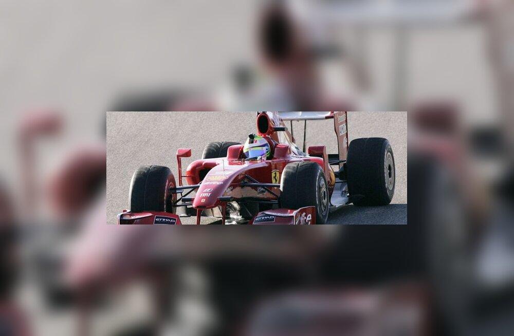 Felipe Massa uue Ferrariga