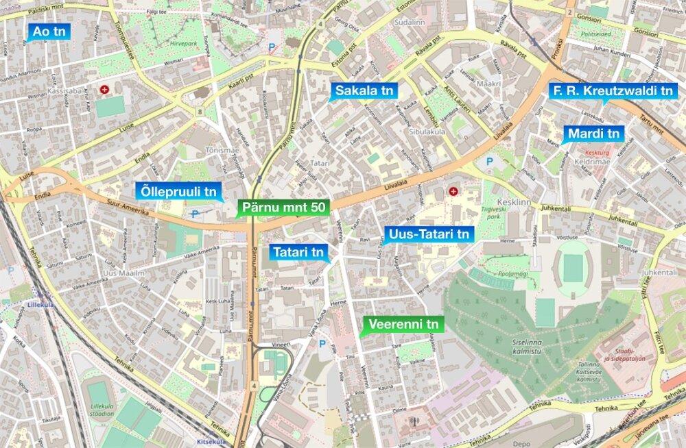 KAART | Tallinna kesklinnas algab teeremondi hooaeg. Vaata, kus töid teostatakse