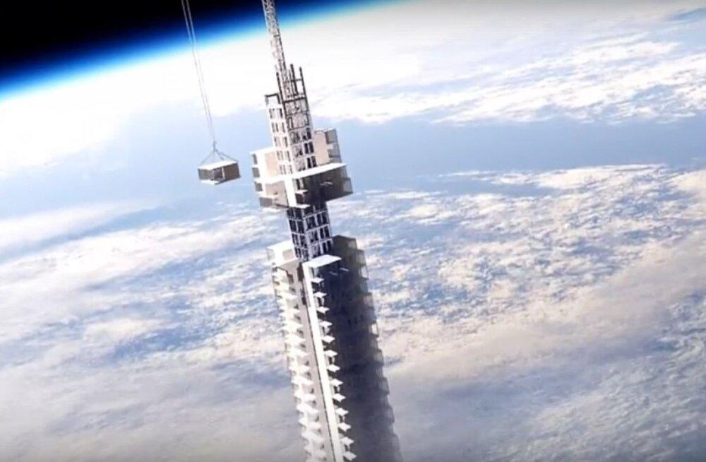 Hullud visioonid | Asteroidile kinnitatud pilvelõhkuja, mis liigub ümber planeedi